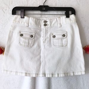 {Hurley} White Denim Mini Skirt